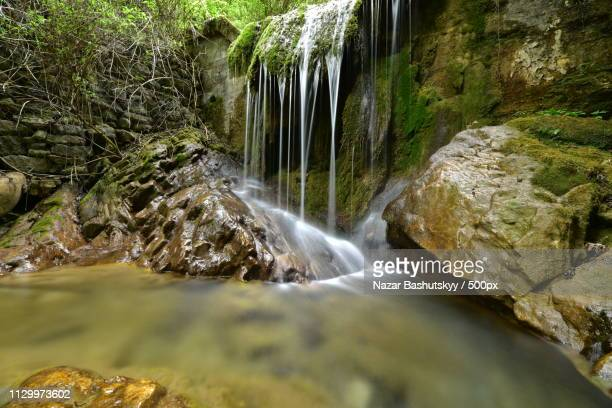 waterfall scene - nazar stock photos and pictures