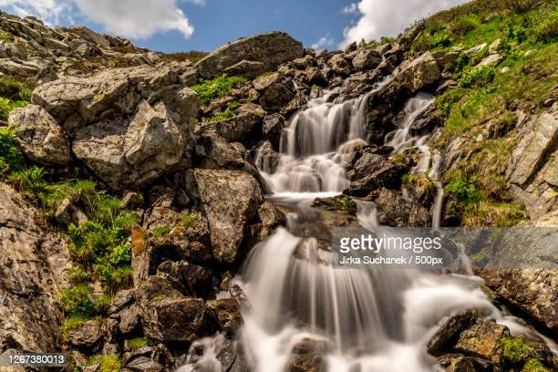 waterfall, schladming, austria - schladming stock pictures, royalty-free photos & images