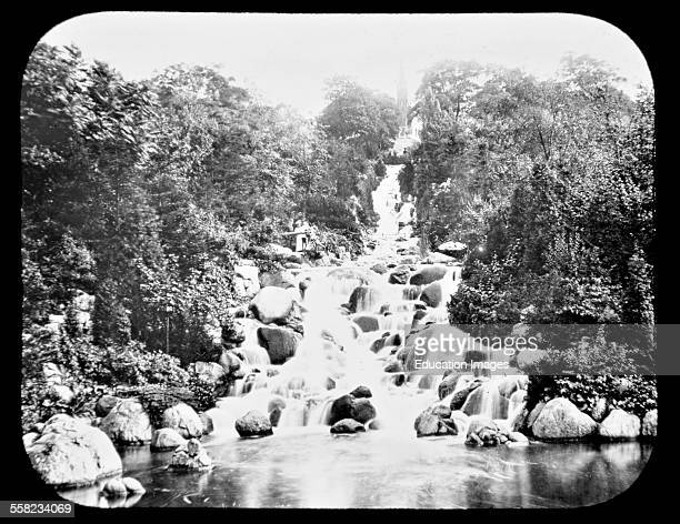 Waterfall Victoria Park Berlin Germany 1903