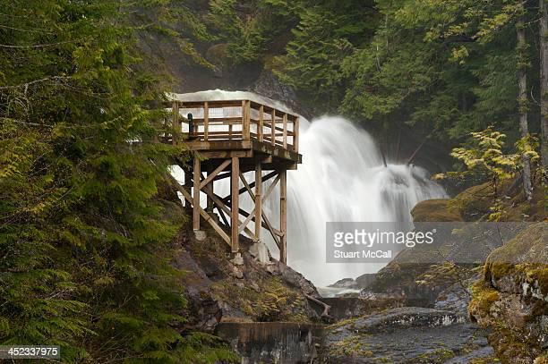 Waterfall viewing platform