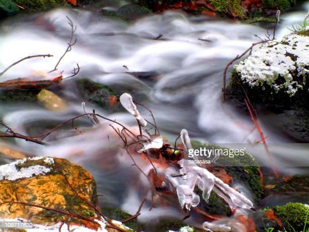 waterfall - winter stream