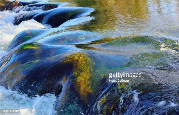 Waterfall with moss-covered rocks, Leitzach river, Leitzachtal valley, near Fischbachau, alpine upland, Bavaria, Germany