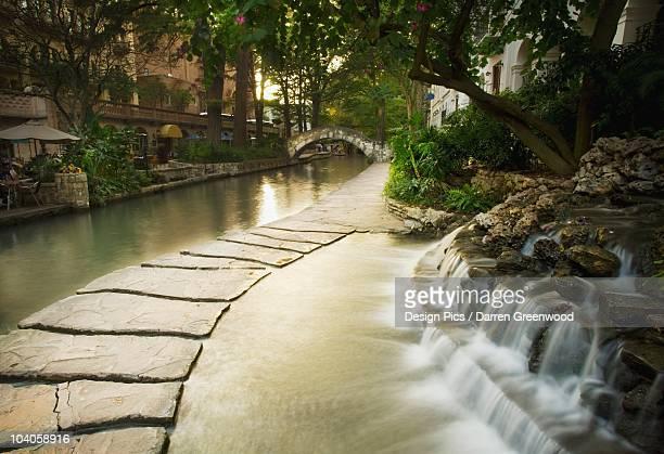 Waterfalls Along The Riverwalk