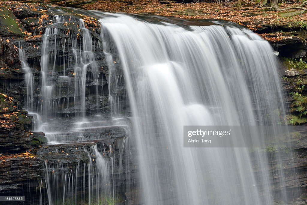 Waterfalls at Ricketts Glen State Park : Stock Photo