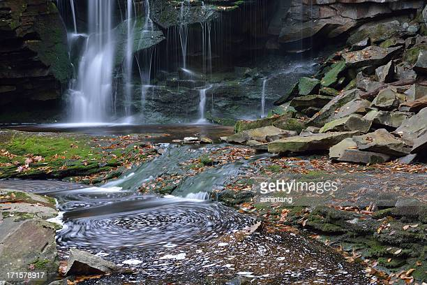 waterfalls in blackwater river - monongahela national forest stock photos and pictures