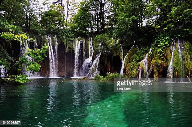 Waterfalls in Plitvice Lakes NP, Croatia