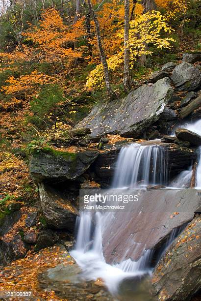 Waterfalls near Smugglers Notch in the Green Mountains of Vermont. USA