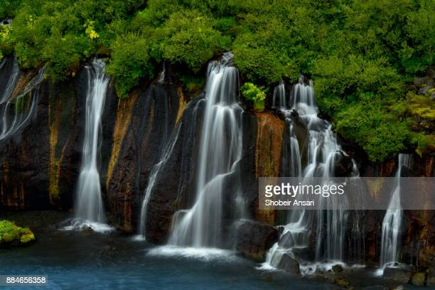 Waterfalls of Hraunfossar, Iceland