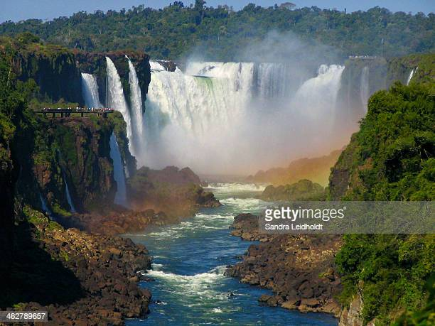 Waterfalls of Iguazu in South America