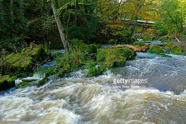 Waterfalls of Irrel, Kyll river, Eifel, Germany