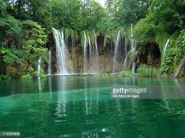 Waterfalls, Plitvice Lakes, Croacia.
