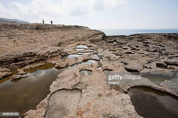 WaterFilled Holes Of The Inland Sea Dwejra Bay Gozo Island Malta