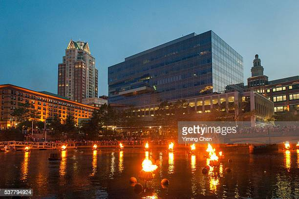WaterFire Event in Waterplace Park of Providence