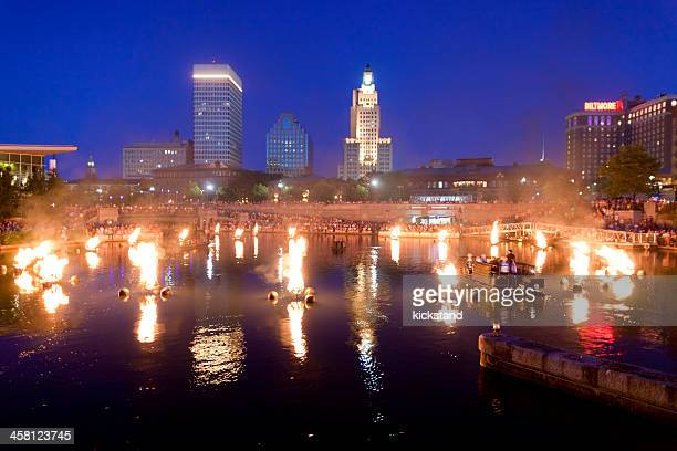 waterfire プロヴィデンス - ロードアイランド州プロビデンス ストックフォトと画像