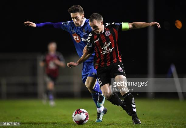 Waterford Ireland 12 March 2018 Derek Pender of Bohemians in action against Derek Daly of Waterford during the SSE Airtricity League Premier Division...