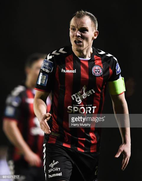 Waterford Ireland 12 March 2018 Derek Pender of Bohemians reacts during the SSE Airtricity League Premier Division match between Waterford and...