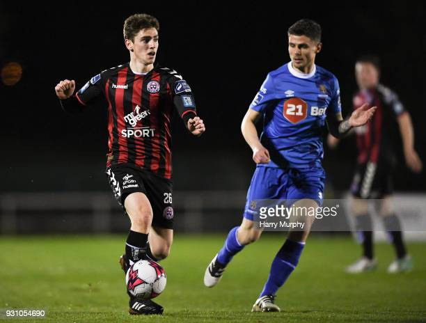 Waterford Ireland 12 march 2018 Dylan Watts of Bohemians in action against Gavan Holohan of Waterford during the SSE Airtricity League Premier...