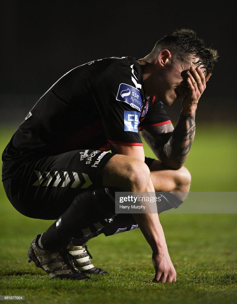Waterford , Ireland - 12 March 2018; Rob Cornwall of Bohemians after the SSE Airtricity League Premier Division match between Waterford and Bohemians at Waterford Regional Sports Centre in Waterford.