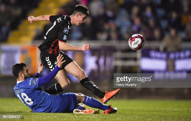 Waterford Ireland 12 March 2018 Rob Manley of Bohemians in action against David Webster of Waterford during the SSE Airtricity League Premier...