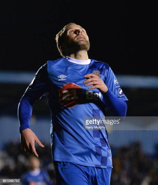 Waterford Ireland 12 march 2018 Sander Puri of Waterford celebrates after scoring his sides first goal during the SSE Airtricity League Premier...