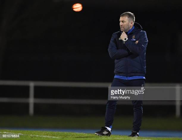 Waterford Ireland 12 March 2018 Waterford manager Alan Reynolds during the SSE Airtricity League Premier Division match between Waterford and...