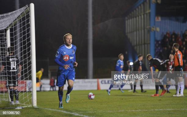 Waterford Ireland 12 march 2018Sander Puri of Waterford celebrates after scoring his sides first goal during the SSE Airtricity League Premier...