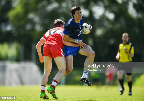 Waterford Ireland 17 June 2017 Tom Prendergast of Waterford in action against Jason Curry of Derry during the GAA Football AllIreland Senior...