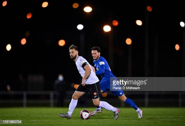 Waterford , Ireland - 26 March 2021; Greg Bolger of Sligo Rovers in action against Eric Molloy of Waterford during the SSE Airtricity League Premier...