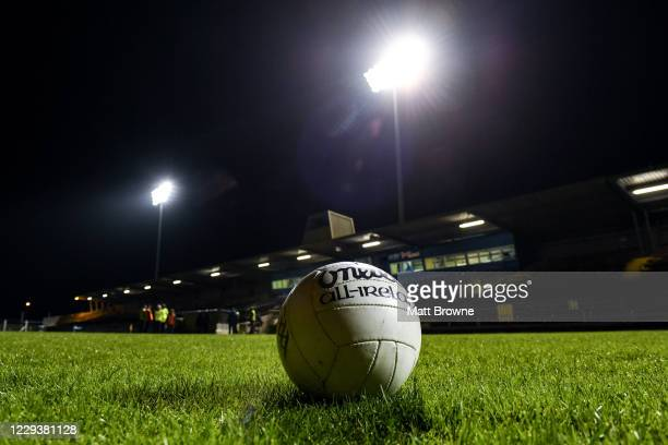 Waterford , Ireland - 31 October 2020; A general view of of the match ball before the Munster GAA Football Senior Championship Quarter-Final match...