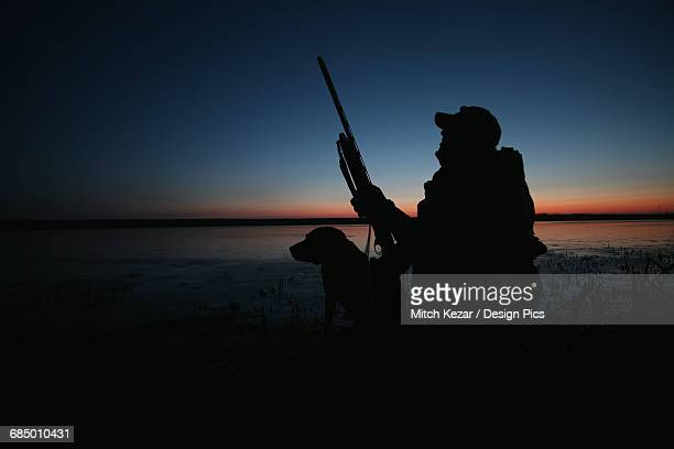Waterfowl Hunter With Dog