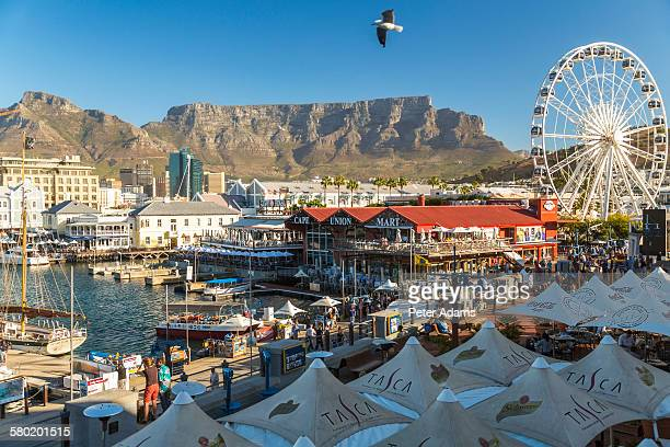 V&A waterfront and Table Mountain, Cape Town