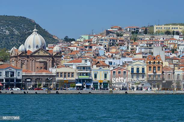 Waterfront and town, Mytilene, Lesvos, Greece