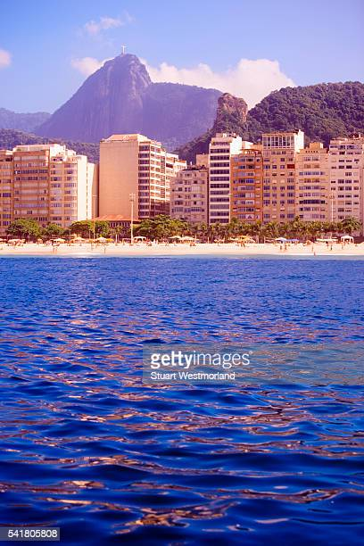 waterfront at copacabana beach - copacabana beach stock pictures, royalty-free photos & images