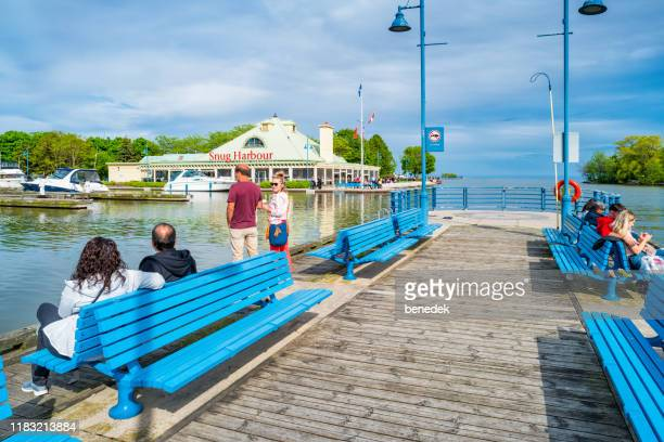 waterfront at port credit mississauga ontario canada - mississauga stock pictures, royalty-free photos & images