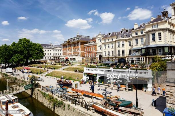 waterfront at richmond upon thames, london, uk - richmond upon thames stock pictures, royalty-free photos & images