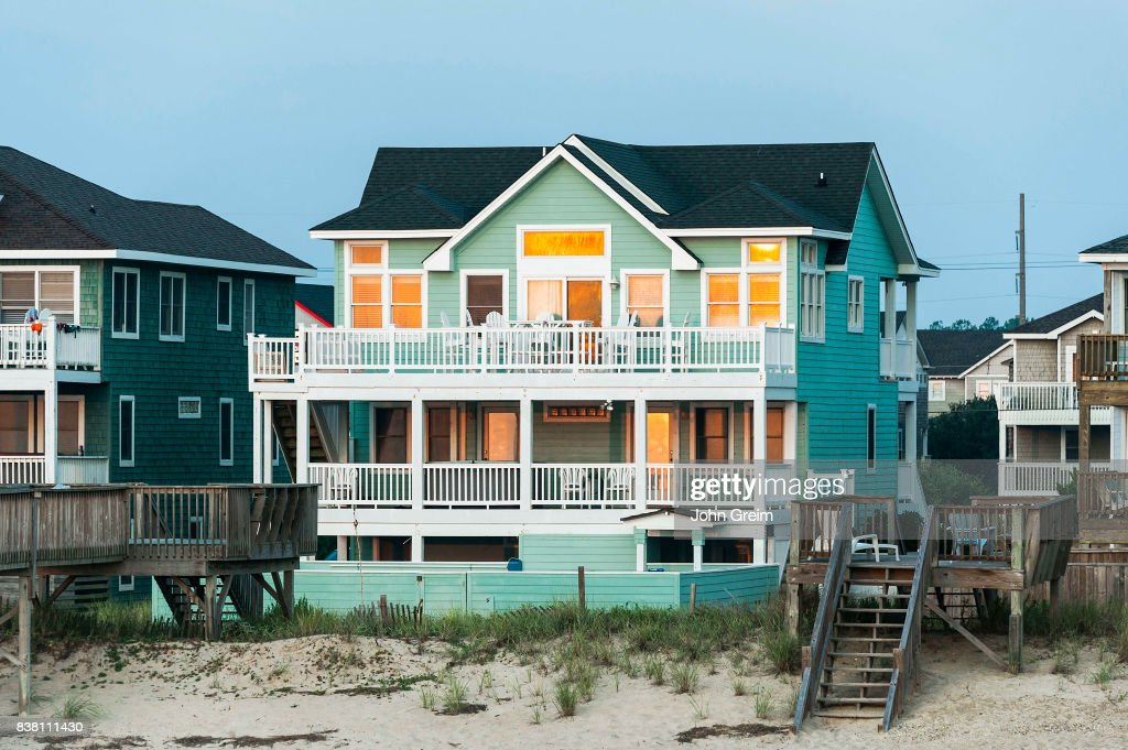 Waterfront Beach House In Nags Head The Outer Banks Area Of North Carolina