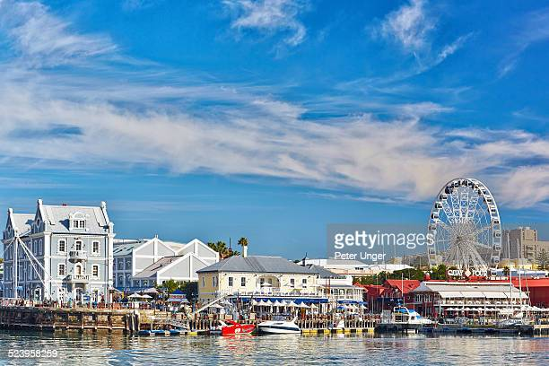 waterfront buildings and wheel - waterfront stock pictures, royalty-free photos & images
