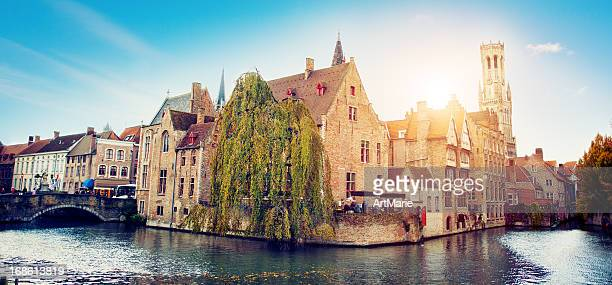 Waterfront Buildings in Bruges, Belgium