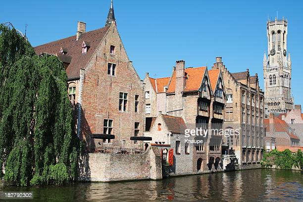 Waterfront Buildings in the city of Bruges Belgium