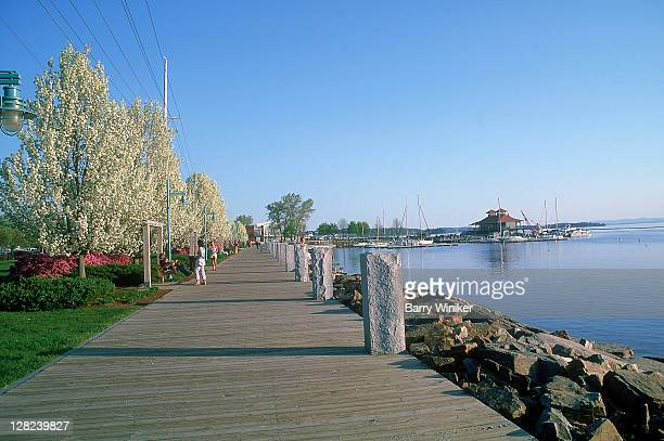 waterfront, burlington, vt - burlington vermont stock photos and pictures