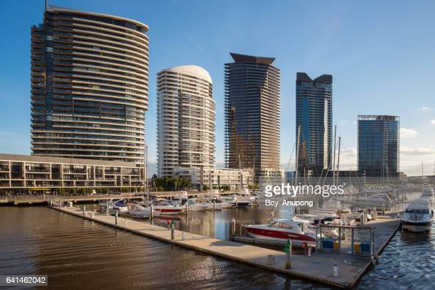 Waterfront City Docklands in Melbourne, Australia.