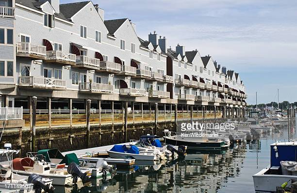 waterfront condominiums - portland maine stock pictures, royalty-free photos & images
