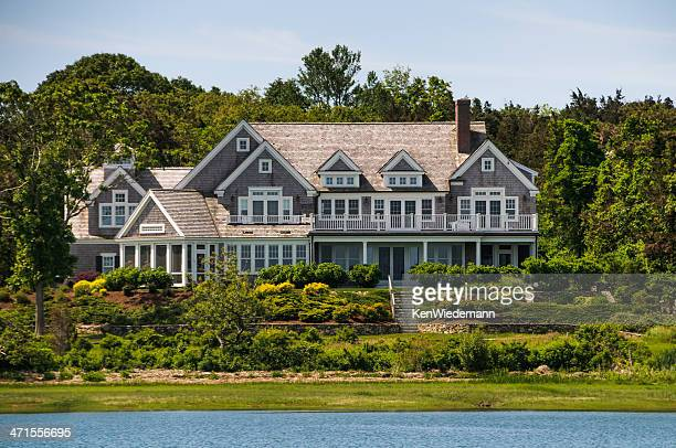 waterfront estate - eastern usa stock photos and pictures