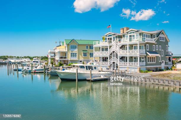 waterfront homes in cape may new jersey usa - cape may stock pictures, royalty-free photos & images