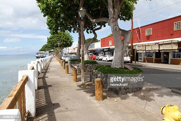waterfront in lahaina - lahaina stock pictures, royalty-free photos & images
