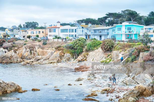Waterfront in Pacific Grove neighborhood in Monterey California