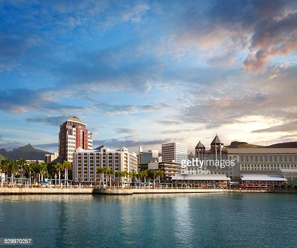 waterfront in port louis - port louis stock photos and pictures