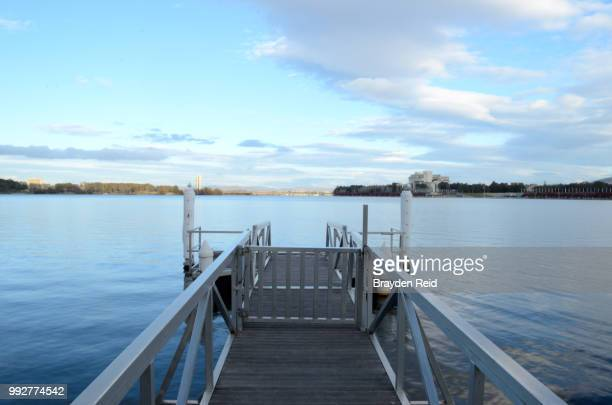 waterfront jetty - reid,_wisconsin stock pictures, royalty-free photos & images