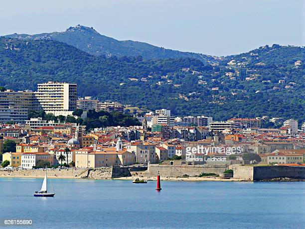 waterfront of ajaccio, corsica - corsica stock pictures, royalty-free photos & images