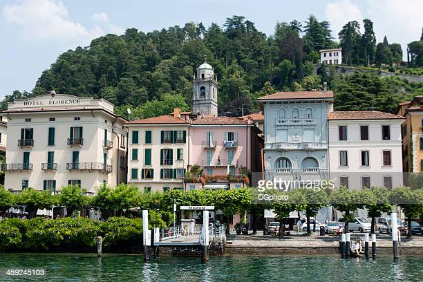 waterfront of bellagio on lake como, italy. -xxxl - ogphoto stock photos and pictures